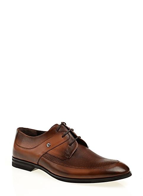 Stoneblue %100 Deri Klasik Ayakkabı Taba